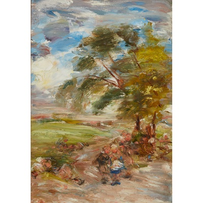 Lot 111 - WILLIAM MCTAGGART R.S.A., R.S.W (SCOTTISH 1835-1910)
