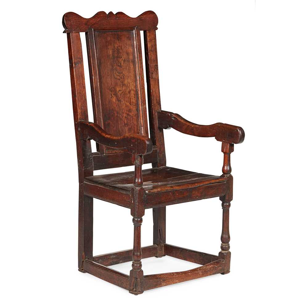 Lot 141 - SCOTTISH PROVINCIAL OAK ARMCHAIR