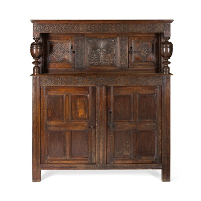 Lot 50 - OAK COURT CUPBOARD, WESTMORLAND OR NORTH YORKSHIRE
