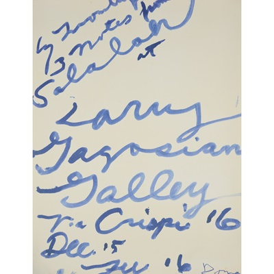 Lot 204 - CY TWOMBLY (AMERICAN 1928-2011)