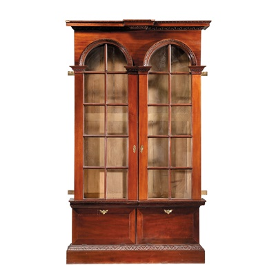 Lot 93 - LATE GEORGE II MAHOGANY LIBRARY BOOKCASE