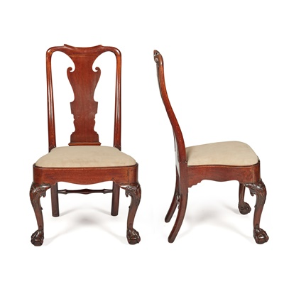 Lot 79 - PAIR OF GEORGE II MAHOGANY SIDE CHAIRS