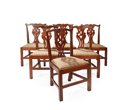 Lot 61 - A SET OF SIX DINING CHAIRS BY WHEELER OF ARNCROACH