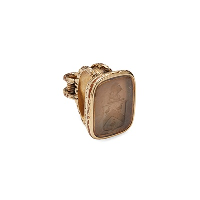 Lot 22 - An early 19th Century gold-mounted fob seal