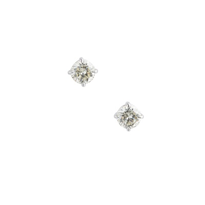 Lot 78 - A pair of diamond set stud earrings