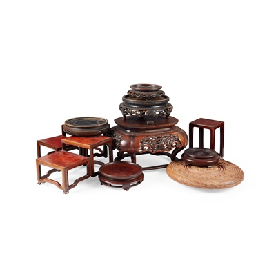 Lot 5 - COLLECTION OF WOODEN STANDS