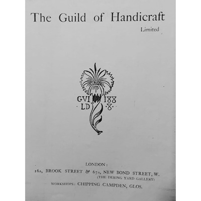Lot 142 - C. R. ASHBEE (1863-1942)(ATTRIBUTED DESIGNER) FOR THE GUILD OF HANDICRAFT