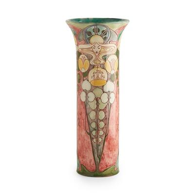 Lot 355 - CASSANDIA ANNIE WALKER (1875-1957) FOR DELLA ROBBIA POTTERY, BIRKENHEAD