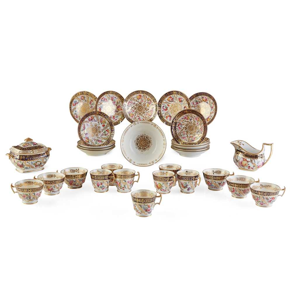 Lot 30 - ENGLISH PORCELAIN PART TEA AND COFFEE SERVICE