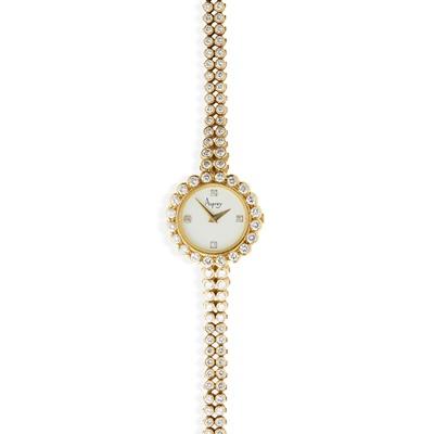 Lot 136 - Asprey: a lady's diamond set watch