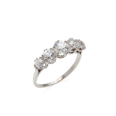 Lot 56 - A five-stone diamond ring