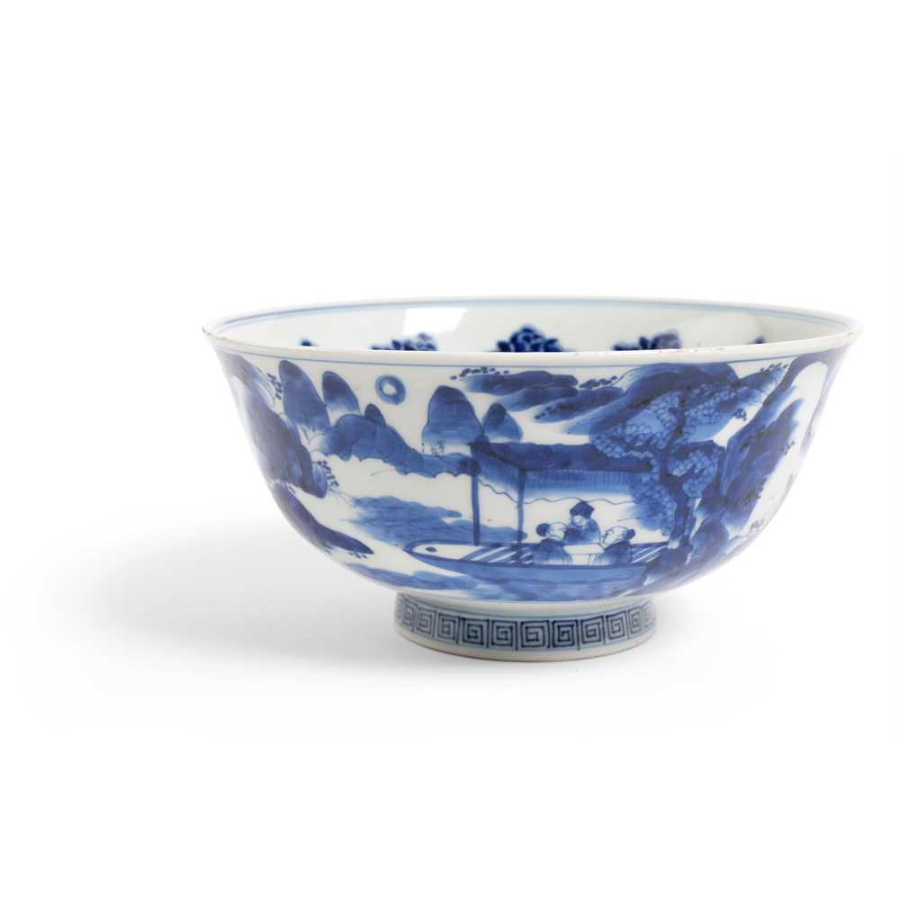 Lot 43 - BLUE AND WHITE BOWL
