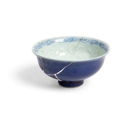 Lot 110 - BLUE-GLAZED CUP