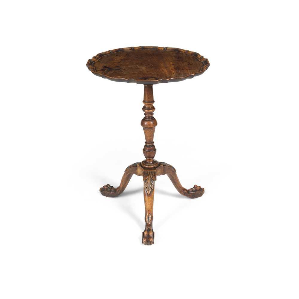 Lot 87 - GEORGE II MAHOGANY PIECRUST TRIPOD TABLE