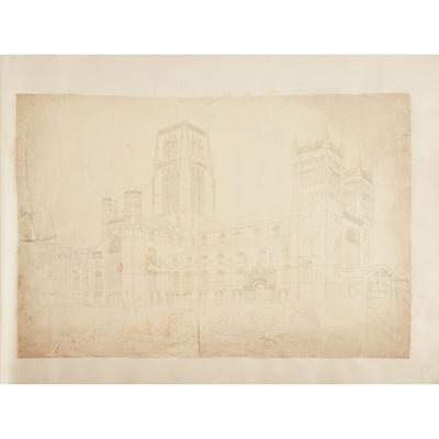 Lot 29 - Durham, Bambrough Castle, &c. original drawings, lithographs &c