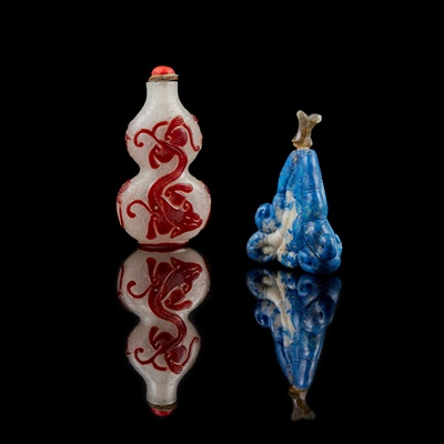 Lot 144 - GROUP OF TWO SNUFF BOTTLES
