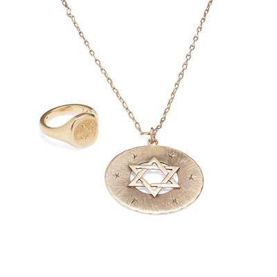 Lot 110 - A Star of David pendant