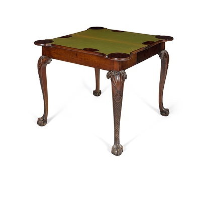 Lot 97 - GEORGE II MAHOGANY CARD TABLE