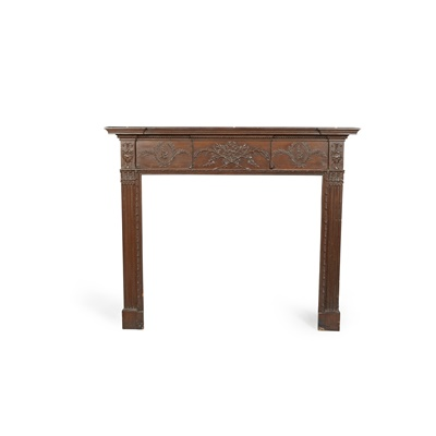 Lot 216 - GEORGIAN PAINTED PINE AND GESSO FIRE SURROUND