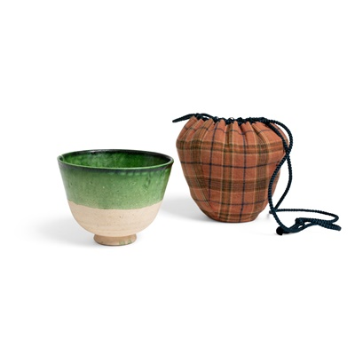 Lot 162 - GREEN-GLAZED CUP