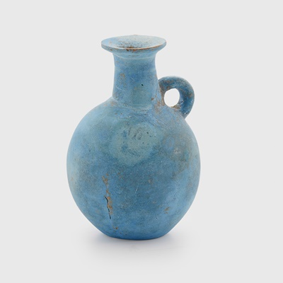 Lot 33 - ANCIENT EGYPTIAN FAIENCE BOTTLE