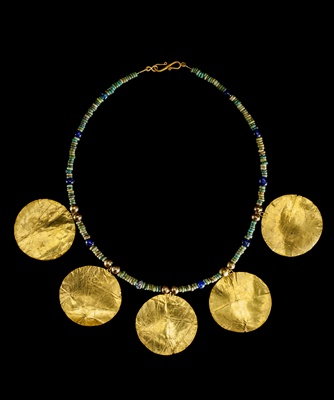 Lot 39 - WESTERN ASIATIC NECKLACE