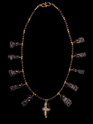 Lot 53 - WESTERN ASIATIC LION PENDANT NECKLACE