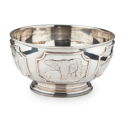 Lot 191 - A WORLD WILDLIFE PUNCH BOWL