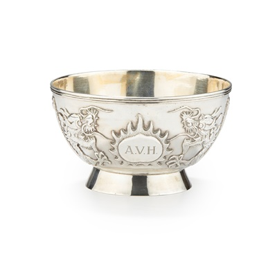 Lot 187 - A CHINESE EXPORT SILVER BOWL
