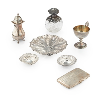 Lot 207 - A COLLECTION OF MISCELLANEOUS SILVER