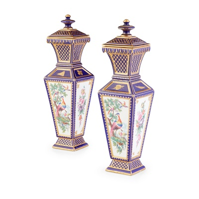 Lot 220 - PAIR OF CHELSEA STYLE VASES AND COVERS