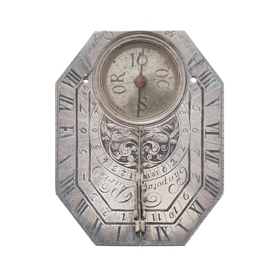 Lot 243 - A SMALL EARLY 18TH CENTURY CASED SILVER BUTTERFIELD TYPE DIAL