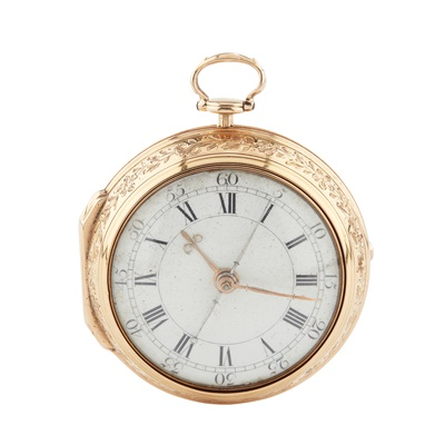 Lot 249 - A LATE 18TH CENTURY GOLD PAIR CASE POCKET WATCH