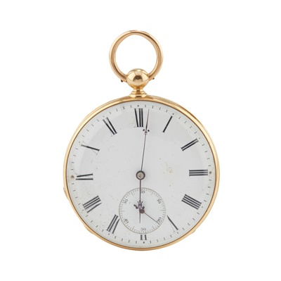 Lot 247 - A LATE 19th CENTURY POCKET WATCH