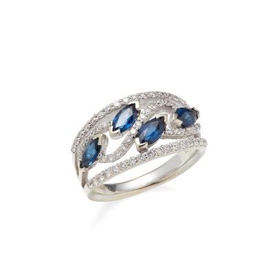 Lot 10 - A sapphire and diamond set ring