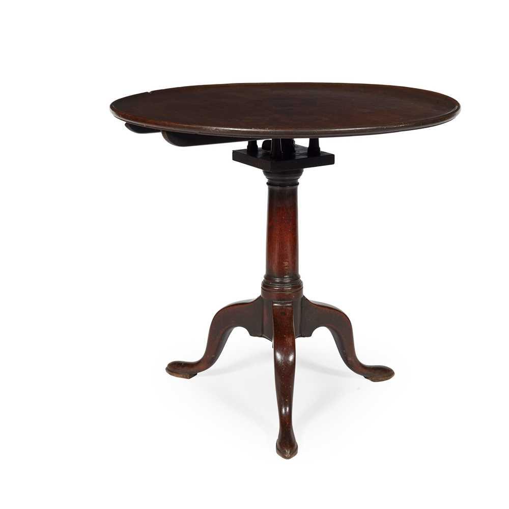 Lot 119 - GEORGE III MAHOGANY BIRDCAGE TRIPOD TEA TABLE