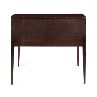 Lot 134 - GEORGE III MAHOGANY TAMBOUR DESK