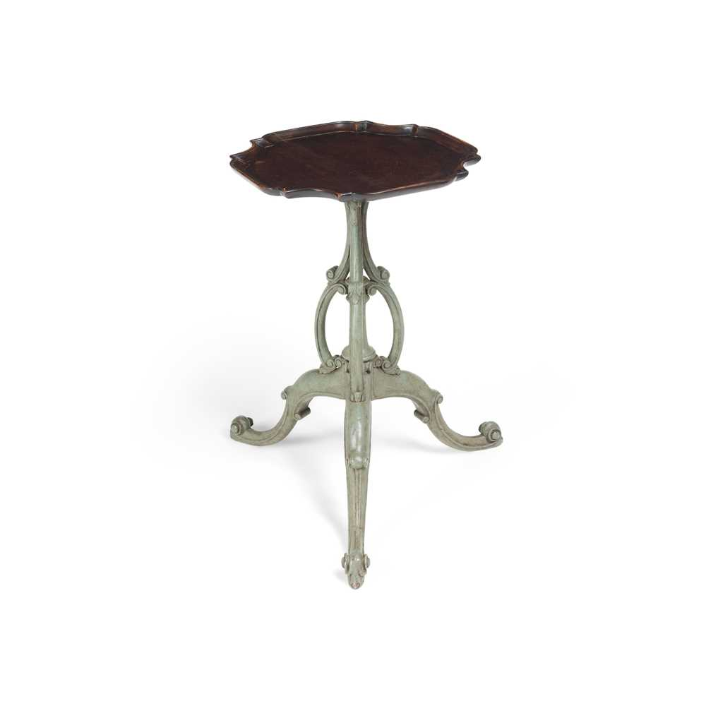 Lot 101 - GEORGIAN STYLE MAHOGANY AND PAINTED WINE TABLE