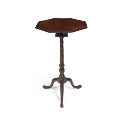 Lot 113 - EARLY GEORGE III MAHOGANY OCTAGONAL BIRDCAGE TRIPOD TABLE