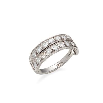 Lot 62 - A diamond set half-eternity ring