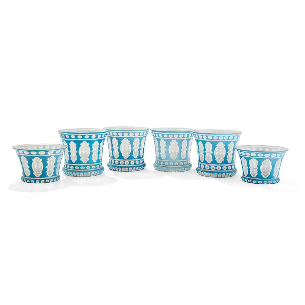 Lot 22 - COLLECTION OF BOHEMIAN LAYERED GLASS FINGER BOWLS AND POSY BOWLS