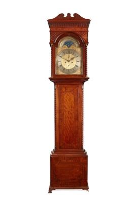 Lot 11 - A SCOTTISH GEORGE III LONGCASE CLOCK BY JOHN HAMILTON, GLASGOW