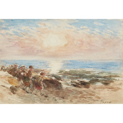 Lot 113 - WILLIAM MCTAGGART R.S.A., R.S.W (SCOTTISH 1835-1910)
