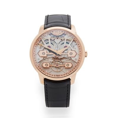 Lot 135 - Rare: a Girard-Perregaux rose gold watch