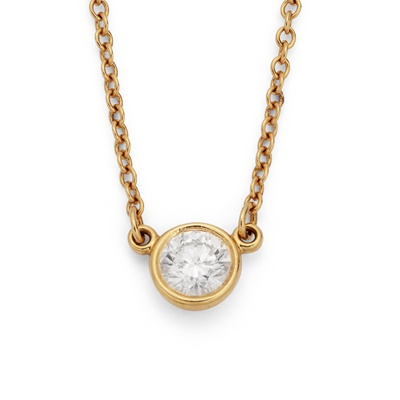 Lot 57 - A 'Diamonds by the Yard' pendant necklace, by Elsa Peretti for Tiffany & Co.