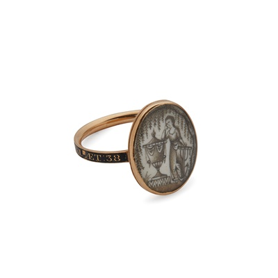 Lot 16 - A late 18th Century mourning ring
