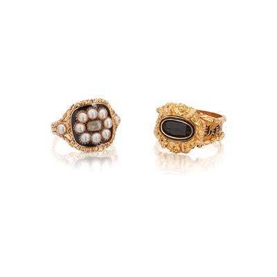 Lot 17 - Two early 19th Century mourning rings