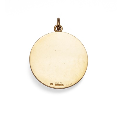 Lot 78 - An 18ct gold pendant, by Cartier, 1973