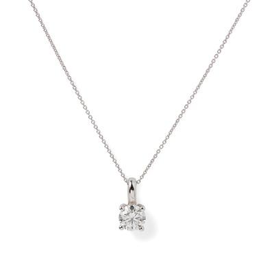 Lot 79 - A diamond set pendant necklace, Rox