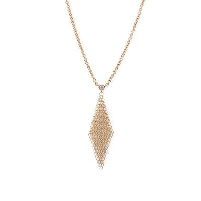 Lot 30 - A diamond set mesh pendant, Elsa Peretti for Tiffany & Co